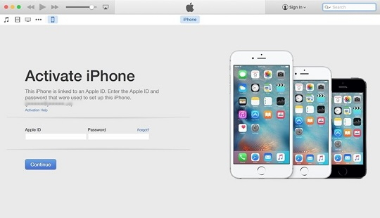 Activate the iPhone Using iTunes