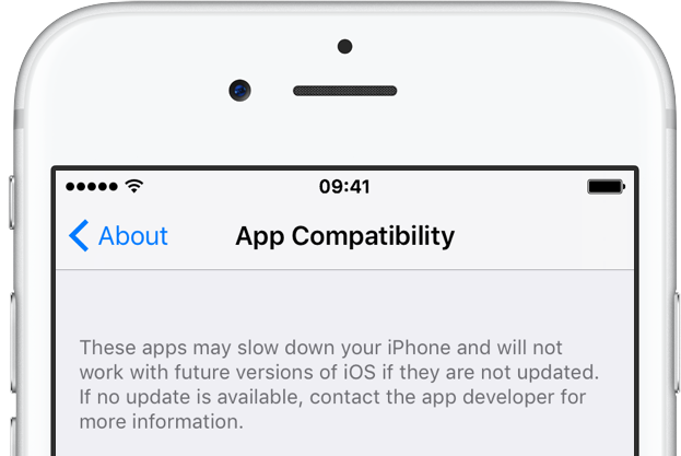 iOS 10.3 app compatibility