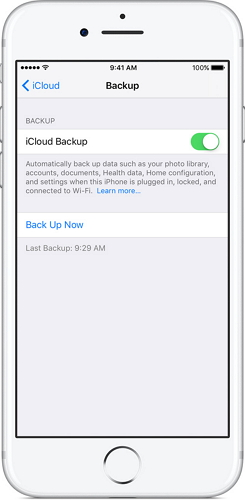 back up iPhone to iCloud