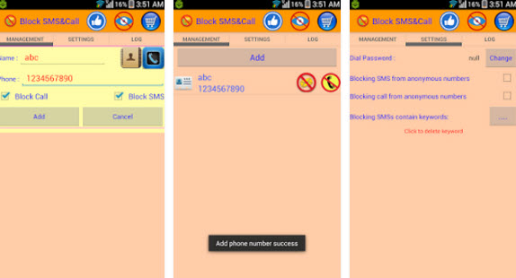 text hiding apps block SMS and call