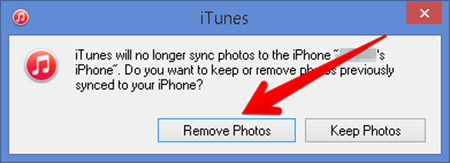 delete photos on iPhone from computer using iTunes