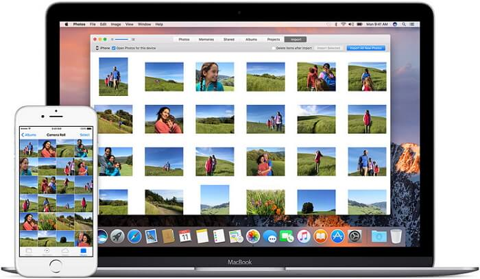import iphone photos to mac