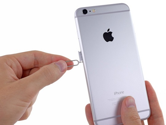 insert sim card into iphone