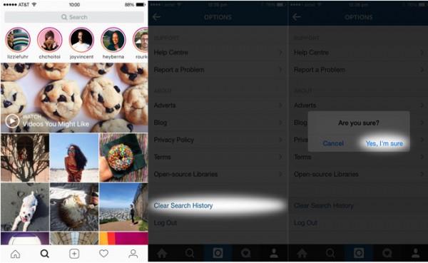 Leeren Sie den iPhone-Instagram-Cache