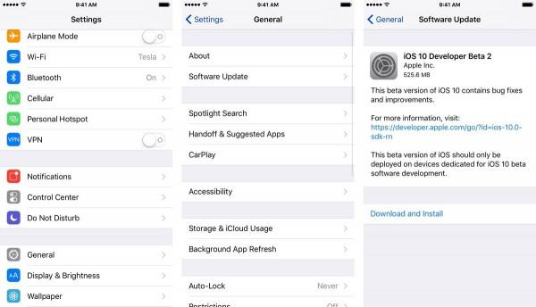 Install iOS 10.3.2 Beta 2