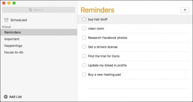 iPhone reminders on Mac