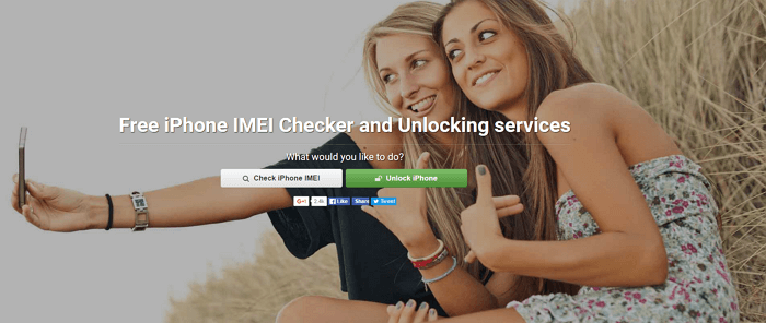 iPhoneIMEI.net website