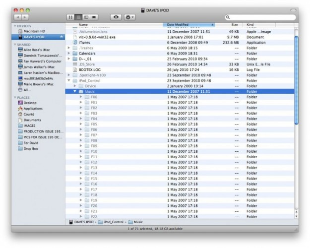 transfer music from ipod to itunes mac