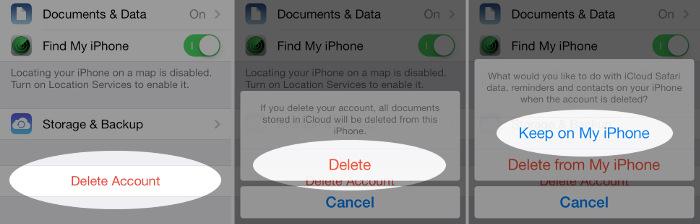 Supprimer le Compte iCloud d'un Appareil iOS 11