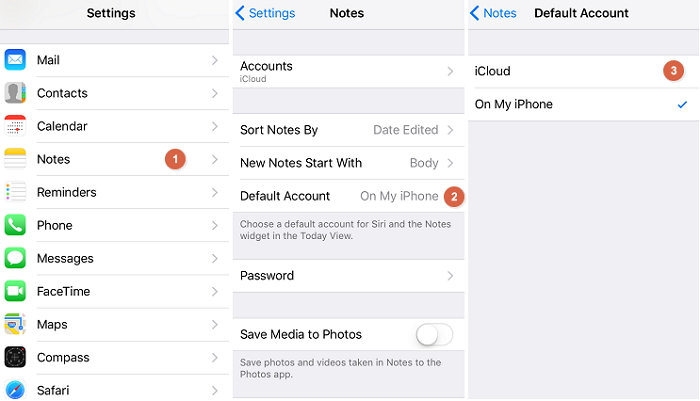 Your device is storing your notes locally