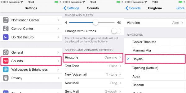 set up ringtones