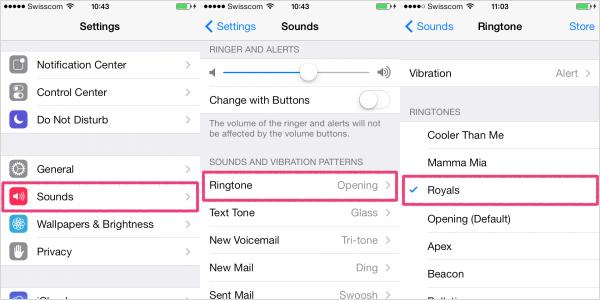 set up custom ringtones