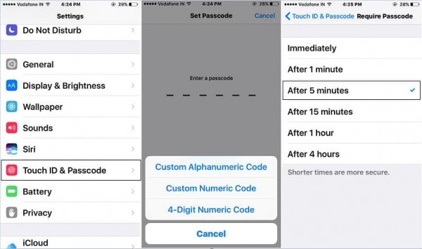 Set up Touch ID and Passcode