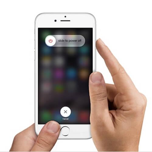turn off iphone