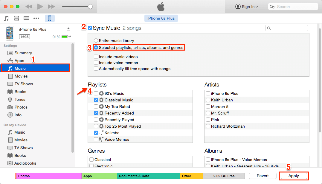 How can i add music to my iphone from itunes