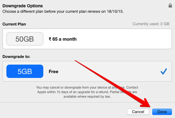 Cancel iCloud Storage Plan on mac