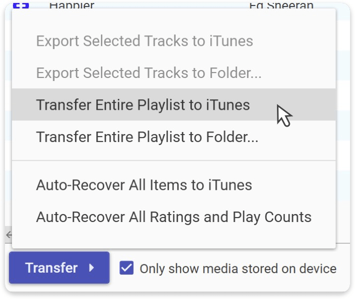 how to copy playlist from iPod to iTunes