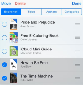 delete purchased books from iCloud