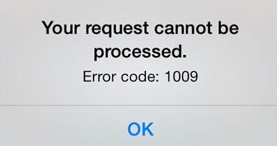 check error code 1009