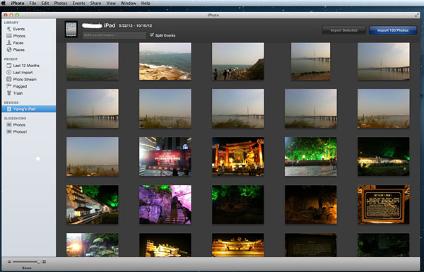 import videos from iPhone to mac using iPhoto