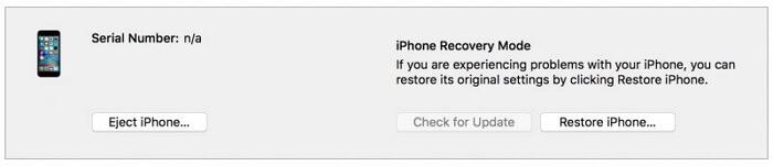 iphone recovery mode itunes
