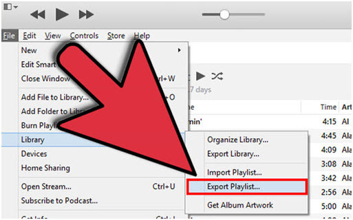 How to export iTunes playlist