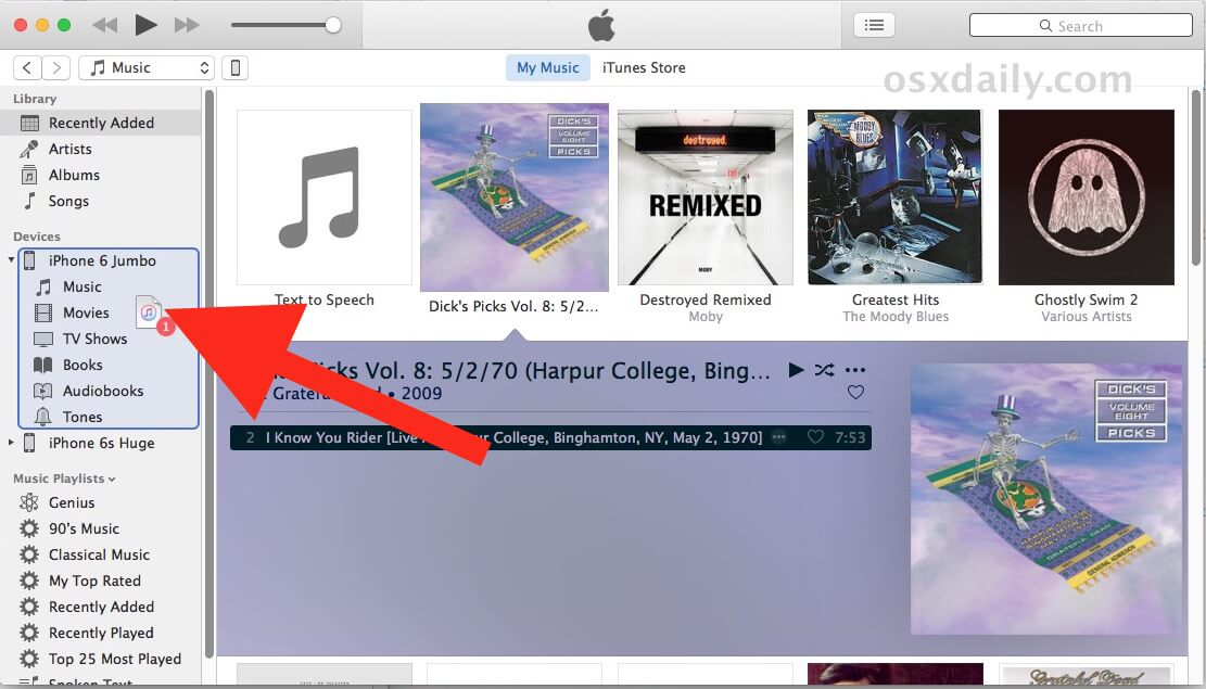 how to transfer music from itunes to iphone without syncing