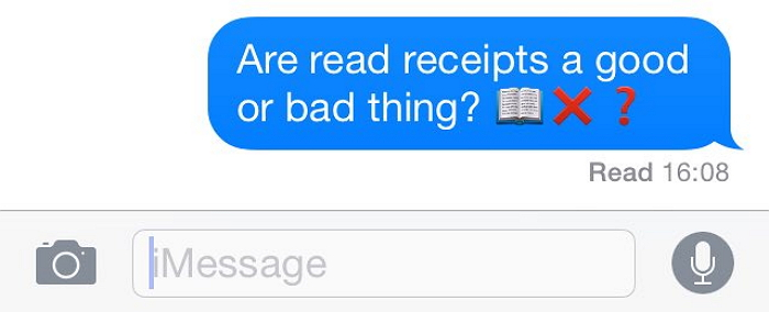 read receipts on iMessages