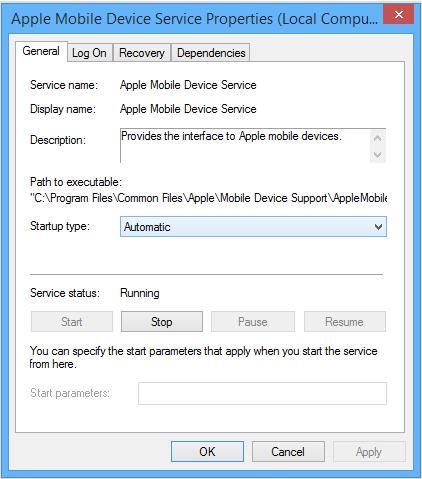 restart apple mobile device service