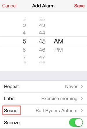 set a song as iphone alarm