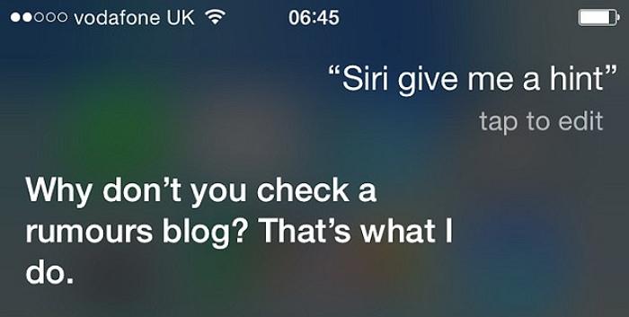 Siri gives hint