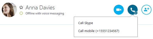 Skype contact number