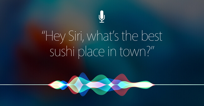 speak to siri
