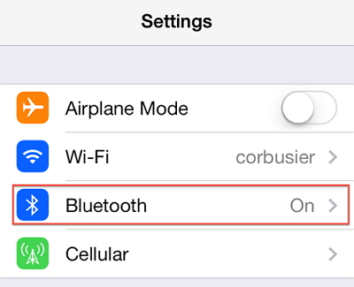 Make sure Bluetooth is turned off