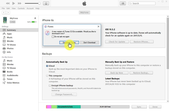 "How to Fix iTunes ""Back Up Now"" Greyed out on Windows"