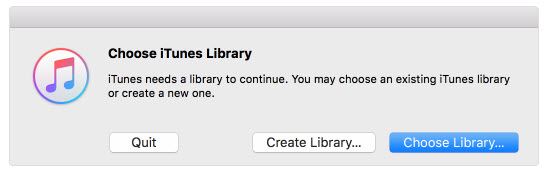 itunes library missing