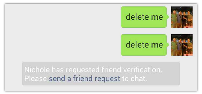 wechat messages are rejected