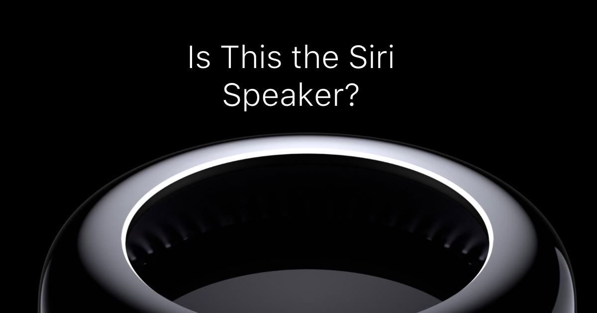Siri Speaker WWDC