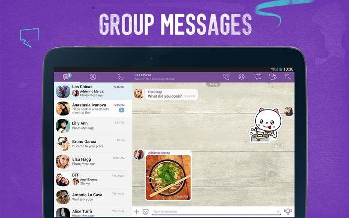 Viber group chat