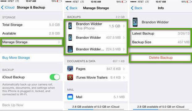 delete iphone backups on computer