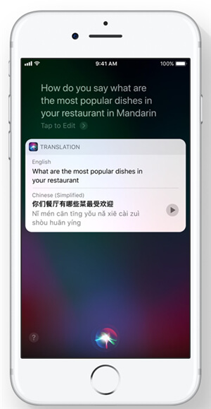 how to use Siri tranlation