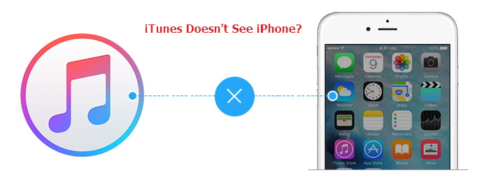 iTunes doesn't see iPhone