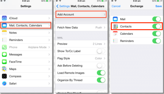 Retrieve Deleted iPhone Contacts from Gmail
