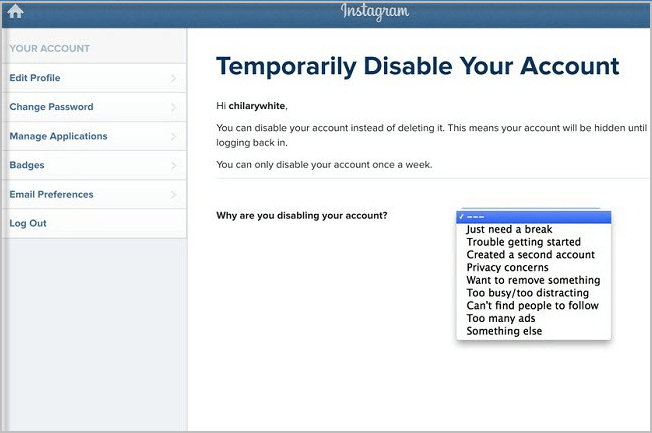 Learn how to delete instagram account on iphoneipad disable instagram account ccuart Images
