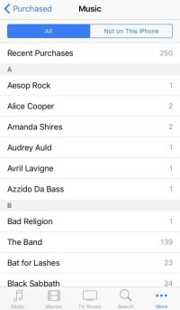 Redownload Songs on iPhone