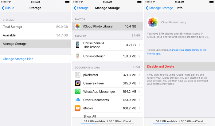 delete icloud photo library