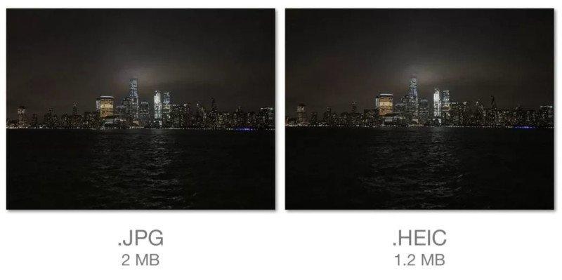 HEIC vs JPG