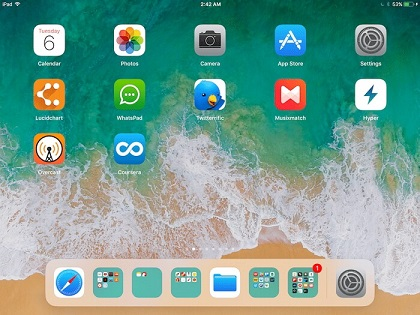 dock on iPad ios 11