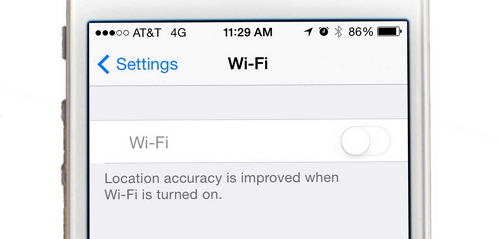 iPhone Wi-Fi greyed out