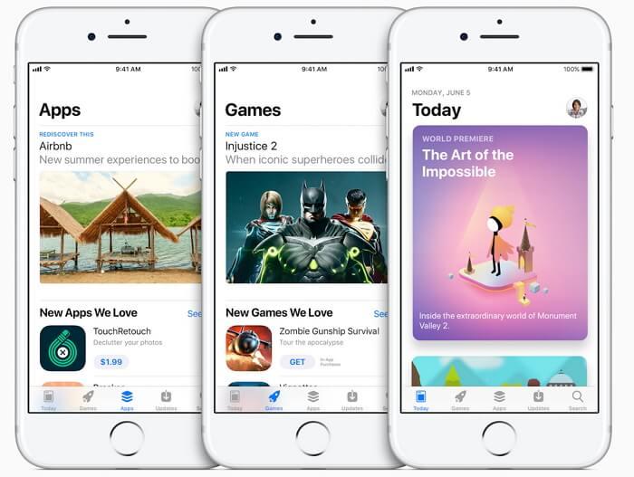 new app store on iOS 11